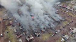 Les images de l'explosion du marché de feux d'artifice ayant fait des dizaines de morts au