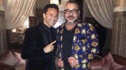 RedOne pose avec Mohammed VI à