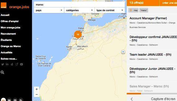 Polémique au Maroc autour d'une carte où Orange n'affichait pas le