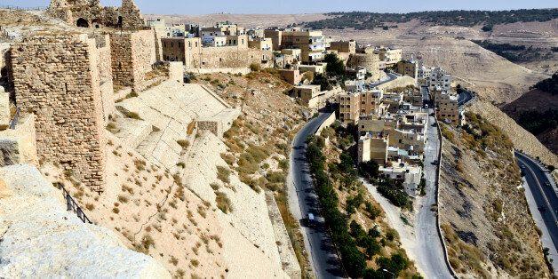 View of Karak, from Karak Castle,