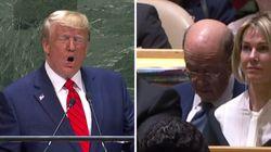El secretario de Comercio de EE. UU. echa una cabezada durante el discurso de