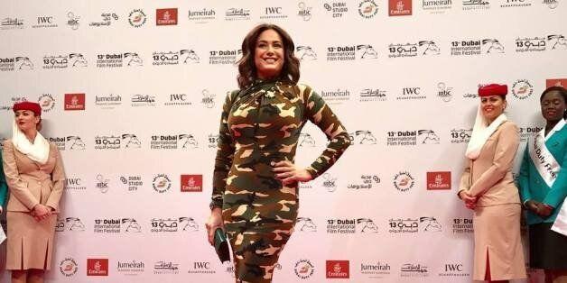 La robe flop de Hend Sabri à Dubai International Film