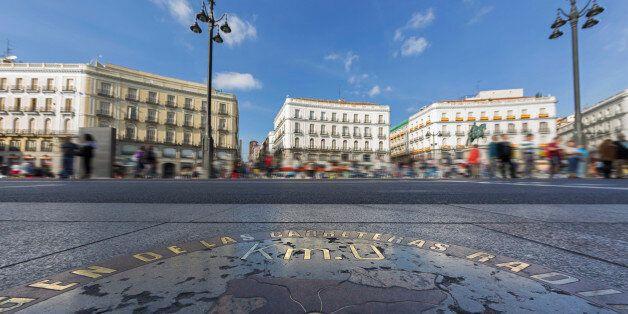 Origin of Spanish roads on Puerta del Sol,