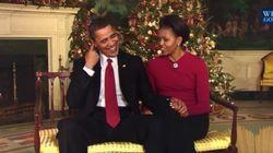 Pour leur dernier message de Noël à la Maison Blanche, les Obama s'offrent un