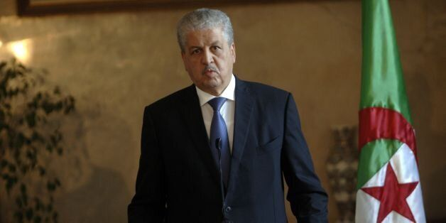 Algerian Prime Minister Abdelmalek Sellal speaks during a press conference, after meeting with his Belgian...