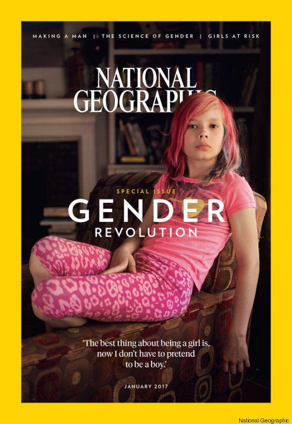 National Geographic fait sa Une avec Avery Jackson, une jeune fille transgenre. Et c'est une
