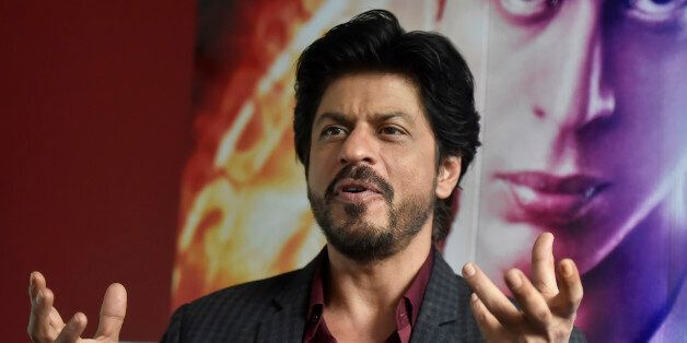 Bollywood actor Shah Rukh Khan speaks during an interview with Reuters at Madame Tussauds in London,...