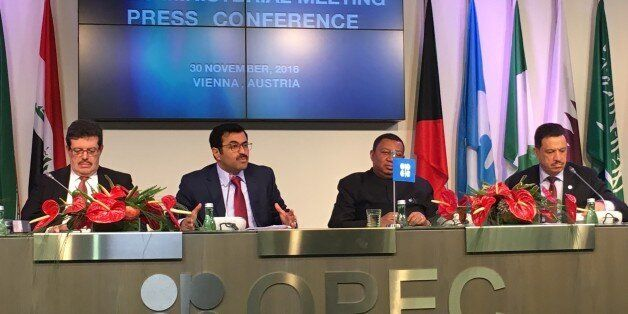 VIENNA, AUSTRIA - NOVEMBER 30: Qatar's Minister of Energy and the OPEC Conference President, Mohammed...