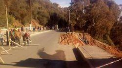 Route coupée à Bouzaréah en raison d'un glissement de