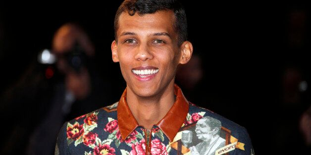 Belgian singer Stromae arrives for the NRJ Music Awards ceremony at the Festival Palace in Cannes December...