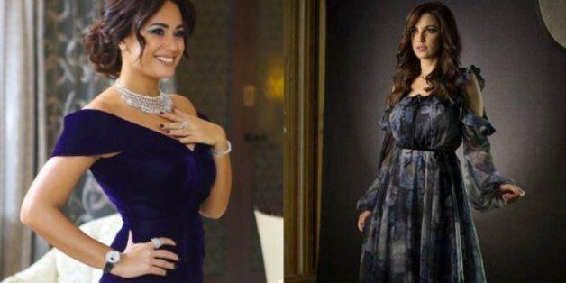 Les robes de Dorra Zarrouk et Hend Sabri au Dubai International Film