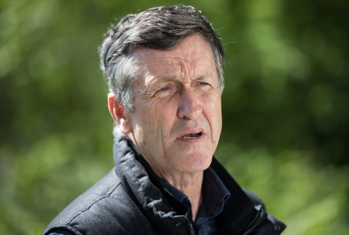 Svend Robinson, federal NDP candidate for Burnaby North-Seymour, speaks during a news conference in Burnaby, B.C., on April 30, 2019.