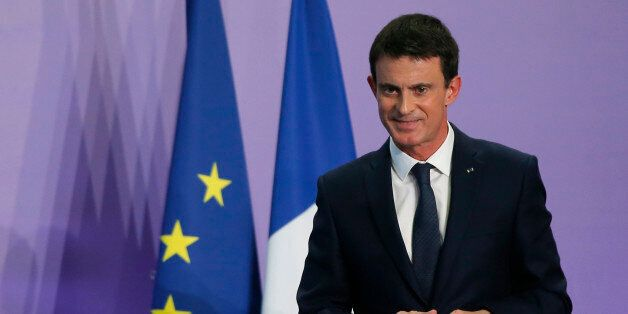French Prime Minister Manuel Valls attends a news conference during an Interministerial Committee on...