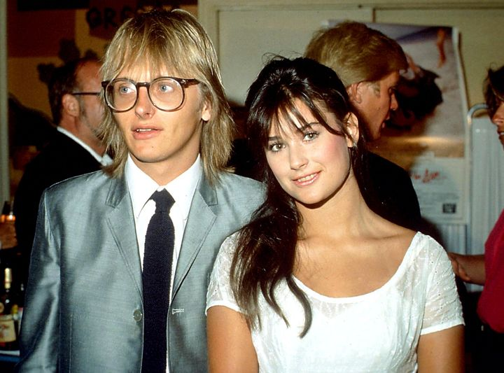 Demi Moore and husband Freddy Moore in 1983.