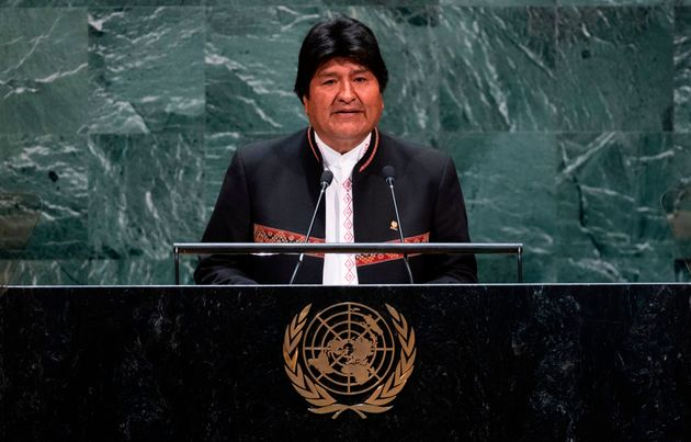 Evo Morales, durante su