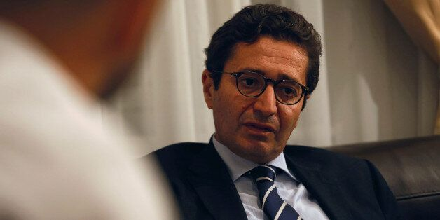 Tunisia's Investment Minister Fadhel Abdelkefi speaks with Reuters journalists in Tunis, Tunisia, October...