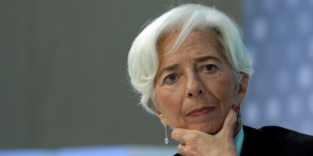International Monetary Fund (IMF) Managing Director Christine Lagarde participates in the One-to-One...