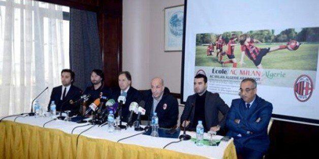 Football: inauguration de l'école de l'AC Milan en
