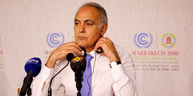 Moroccan Foreign Minister Salaheddine Mezouar and President of COP22 speaks during the Daily Conference...