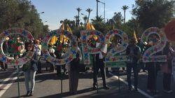 Des militants du monde entier marchent pour le climat à Marrakech