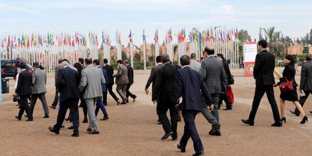 Arrivée des participants à la COP22 à Marrakech, Maroc, 10 novembre