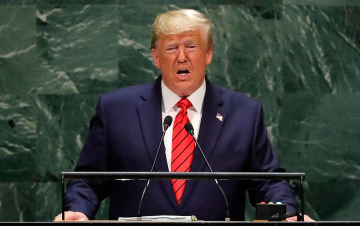 President Donald Trump addresses the 74th session of the United Nations General Assembly at the U.N.'s headquarters in New Yo