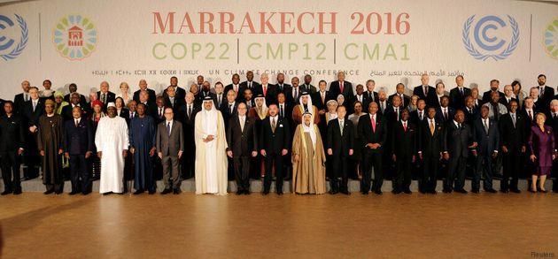 La photo souvenir des chefs d'Etat à la COP22