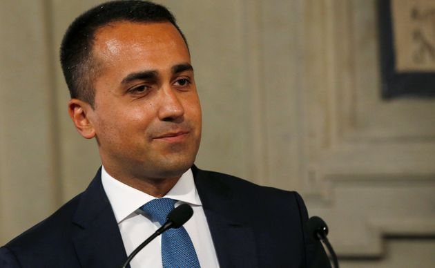 5-Star Movement leader Luigi di Maio speaks to the media after consultations with Italian President Sergio...