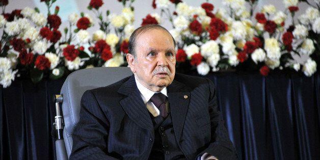 ALGIERS, ALGERIA - APRIL 28: Algerian President Abdelaziz Bouteflika is sworn in for a fourth five-year...