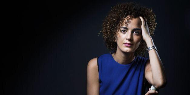 French-Moroccan writer Leila Slimani poses in Paris on September 13, 2016. / AFP / JOEL
