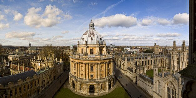 Panoramic view of Oxford in