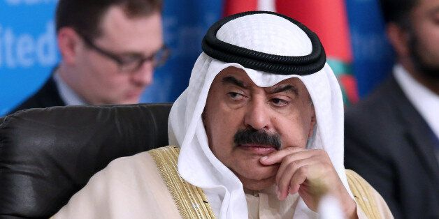 Kuwait's foreign ministry undersecretary Khaled al-Jarallah, attends the 'Global Coalition Against ISIS,...