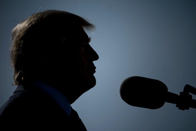 Donald Trump, en un acto en recuerdo a las víctimas del 11-S en el Pentágono, en