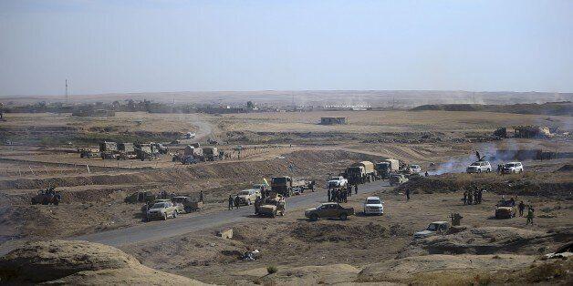 NINEVEH, IRAQ - OCTOBER 18: Peshmerga forces belonging to the Iraqi Kurdish Regional Government (IKRG)...