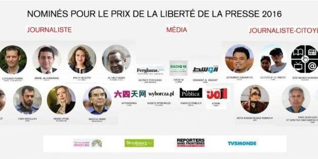 Prix RSF 2016 : Radio M parmi les 22 journalistes et médias