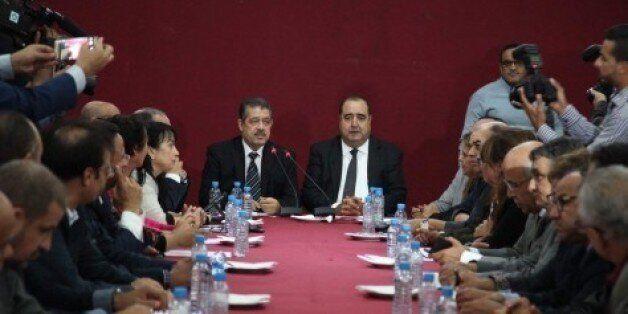 Driss Lachgar et Hamid Chabat, lundi 17 octobre au siège de