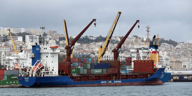View of Port of Algiers on April 24, 2016, the country's principal maritime facility for general cargo...