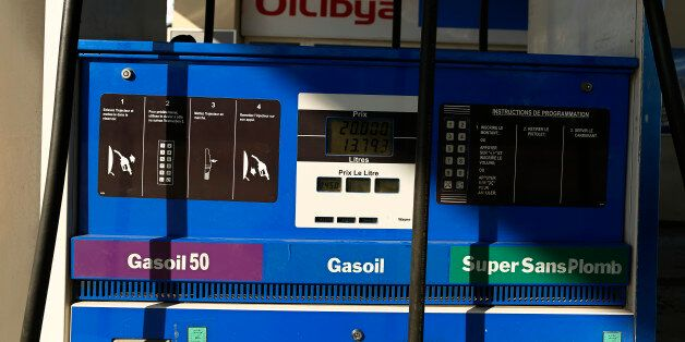 A fuel pump is pictured at Oilibya gas station in Tunis,Tunisia February 3, 2016. REUTERS/Zohra