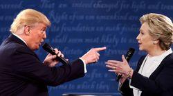 Pour leur 2e débat, Donald Trump et Hillary Clinton se livrent à un face-à-face incroyablement