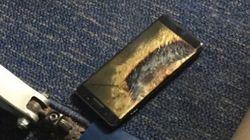 Un Samsung Galaxy Note 7 de remplacement prend feu dans un avion aux