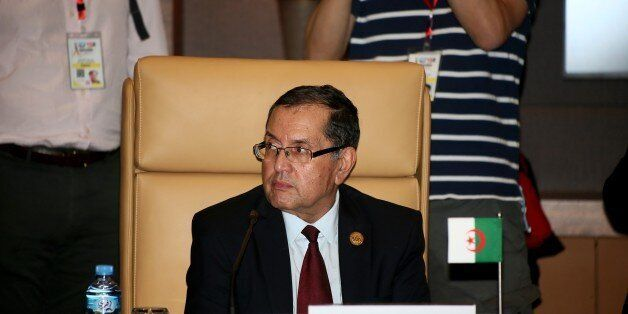 Algerian Energy Minister Noureddine Boutarfa attends an informal meeting between members of the Organization...