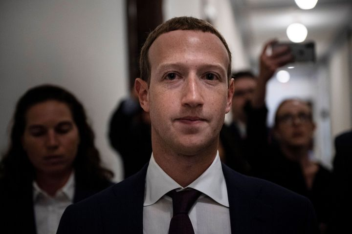 Facebook CEO Mark Zuckerberg walks to meetings for technology regulations and social media issues on Sept. 19, 2019, in Capit