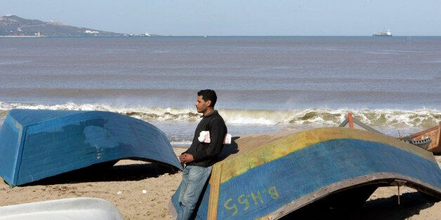 Marketing graduate Belbai Abdelghani is pictured at Sidi Salem beach, 600 km (372 mi) west of Algiers....