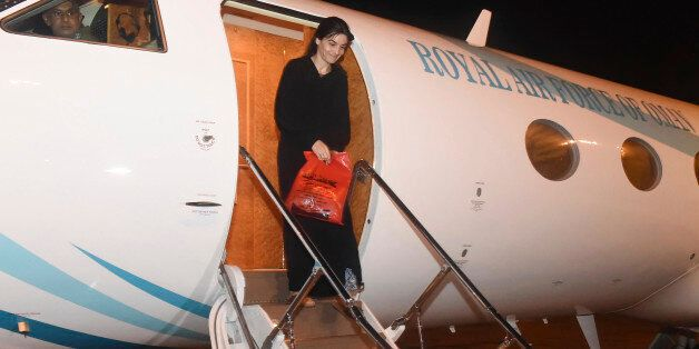 In this photo released by the Oman News Agency on Tuesday, Oct. 4, 2016, Nourane Houas who was kidnapped...