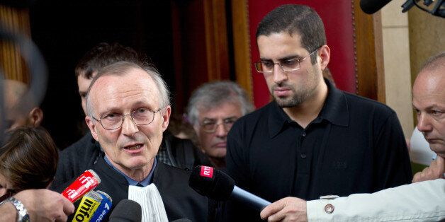 Hilam Hicheur (2ndR), brother of Adlene Hicheur who worked for Cern (European Centre for Nuclear Research)...