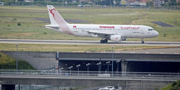 The TS-IMS Tunisair Airbus A320-214 aircraft is pictured at the Paris-Orly airport in Orly, France, August...