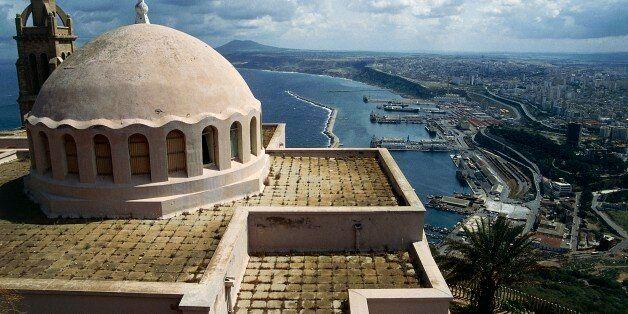 ALGERIA - MARCH 5: City view from the Chapel of Santa Cruz on Mount Murdjajo, Oran, Algeria. (Photo by...