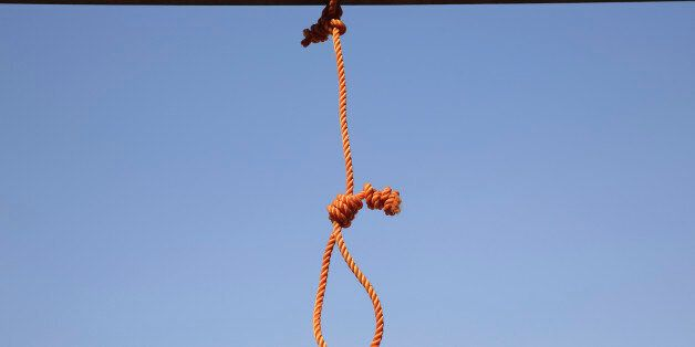 FILE - In this Wednesday, Oct. 8, 2014, one of the six nooses prepared for men sentenced to death at...