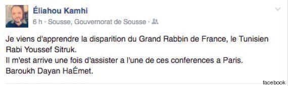Natif de Tunis, l'ancien grand rabbin de France Yossef Sitruk est