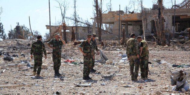 Forces armées loyales au président Bachar al-Assad après la reprise du sud-ouest d'Alep, 5 septembre
